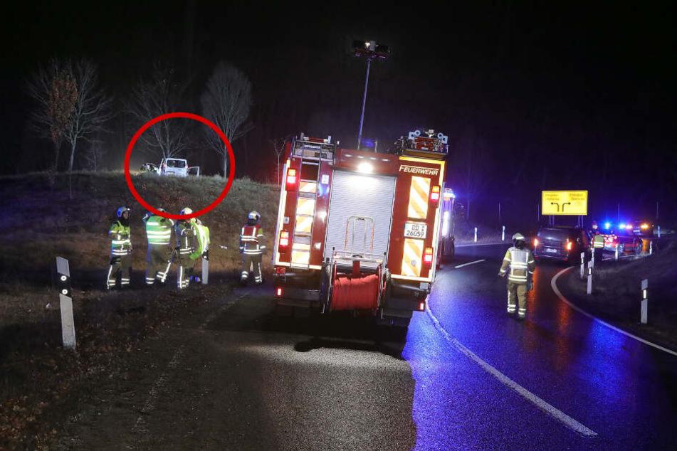 Betrunkener Fahrer verpasst Autobahnausfahrt und landet an Baum