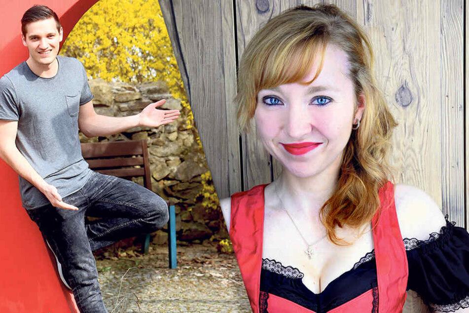 """Johnny Baumann (22) aus Penig ist zumindest im Video die """"Erste große Liebe""""  von Sängerin Nora Louisa (29)."""