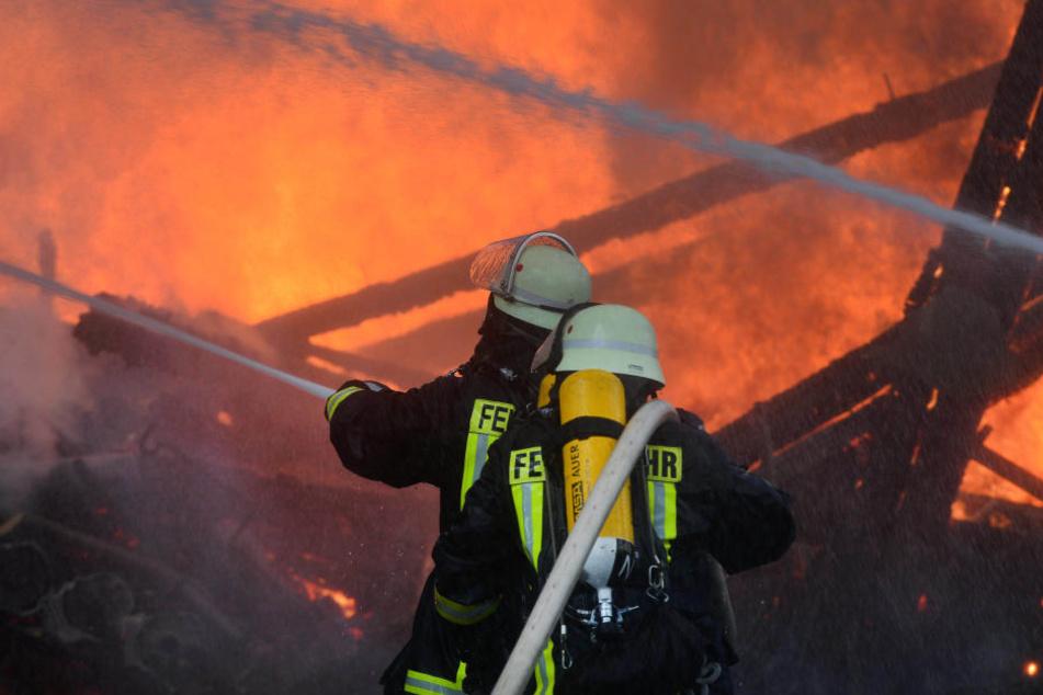 Feuerwehrmänner nach Brand verletzt