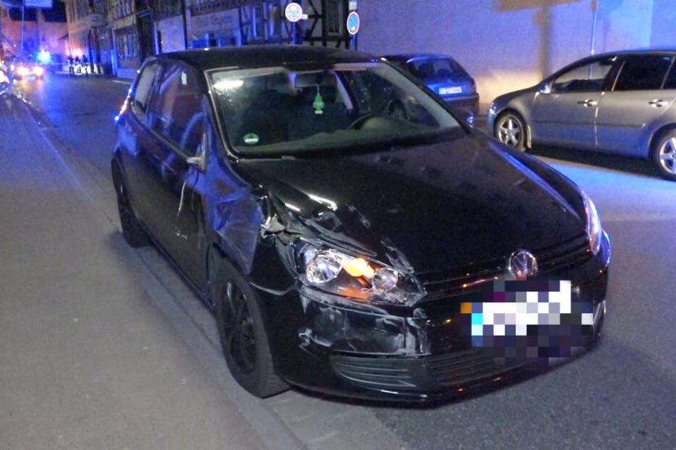 Das Auto der Fahranfängerin wurde verhältnismäßig leicht beschädigt.