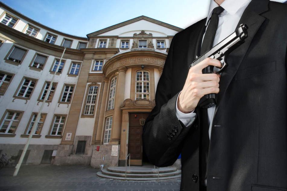 Fotomontage: Der Prozess findet vor dem Landgericht in Frankfurt statt (Symbolbild).
