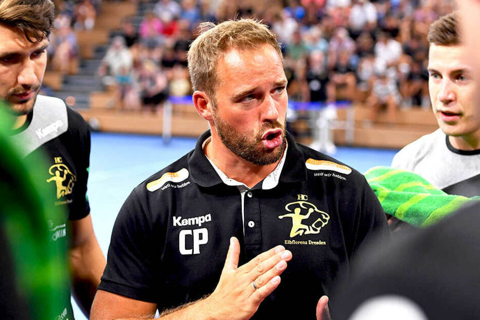 HCE-Trainer Christian Pöhler hat seinen Männern eingeschärft: Gegen Essen müssen wir vorn Tempo machen und hinten muss die Abwehr stehen!