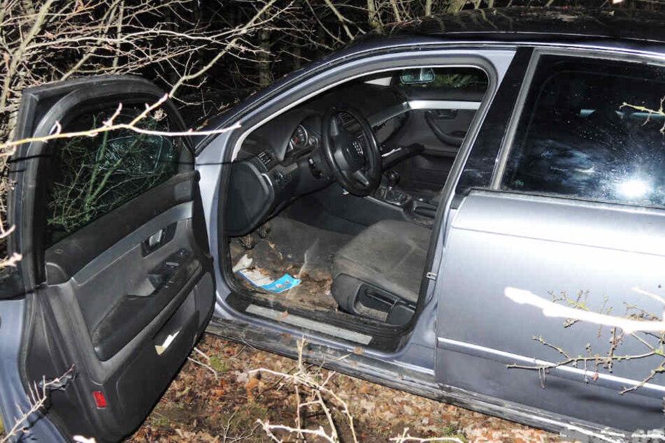 Audi-Fahrer schläft ein und rast 100 Meter über Wiese