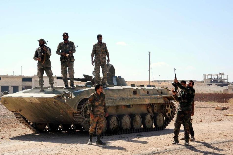 Syrische Soldaten. (Symbolbild)