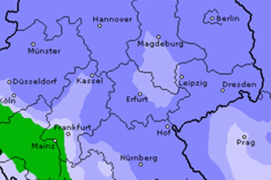 Anfang Dezember wird es in Sachsen ungemütlich nass und kalt.