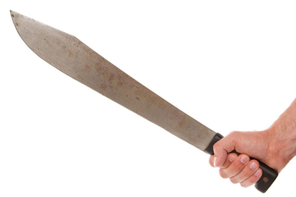 Mit einer Machete bedrohte ein 29-Jähriger in Bretnig einen Familienvater.