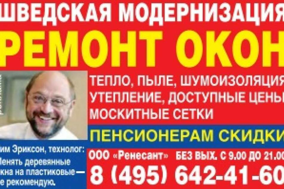 """Modernisiert eure Fenster auf die schwedische Art, wirbt die Firma """"Okon""""."""