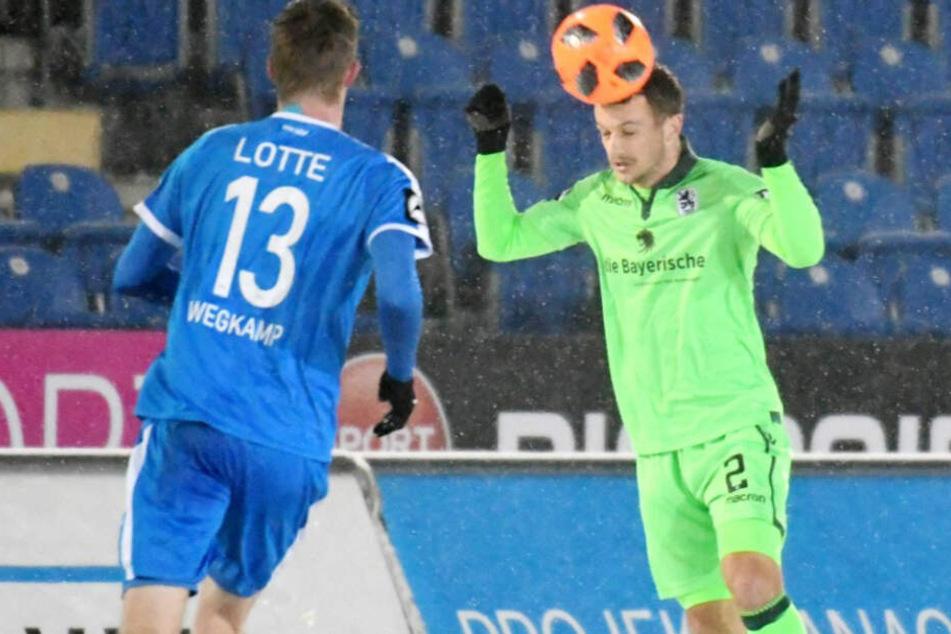 Der TSV 1860 München spielte gegen die Sportfreunde aus Lotte am Ende nur remis.