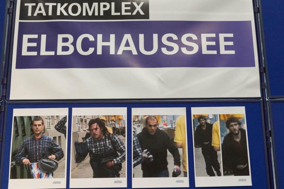 """Fahndungsbilder aus dem """"Tatkomplex Elbchaussee"""". Mehr Fotos gibt es unter polizei.hamburg.de"""
