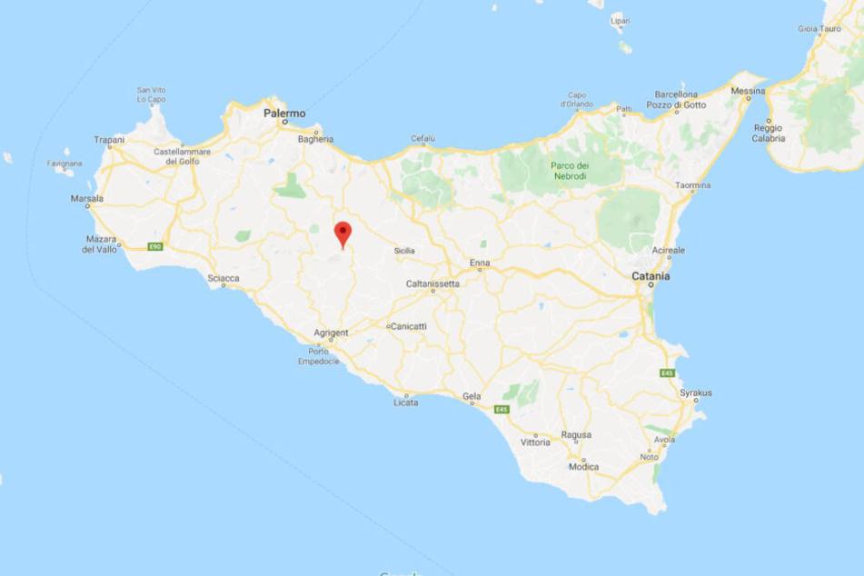Im mittleren Westen liegt der Ort Cammarata, etwas südöstlich von Palermo.