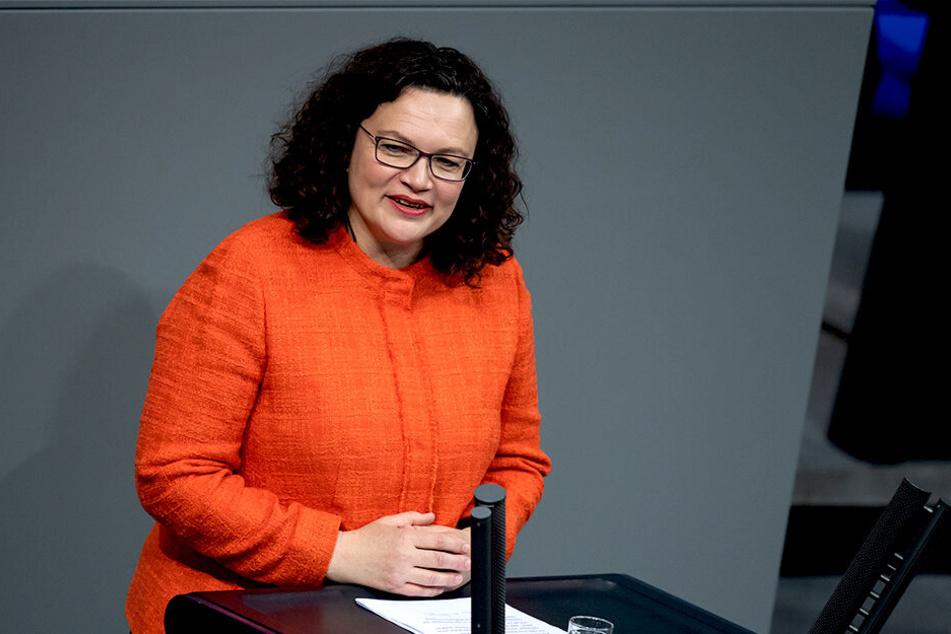 Andrea Nahles (48, SPD).