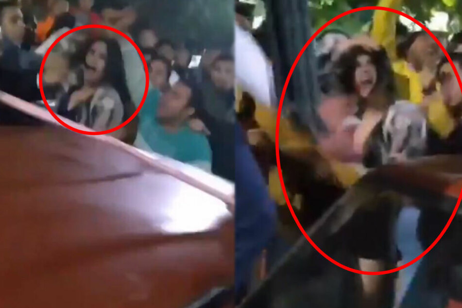Böse Attacke auf offener Straße: Sex-Mob fällt über Frau her
