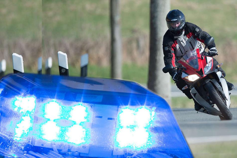 Beim Überholen: Motorrad kracht frontal in anderes Krad