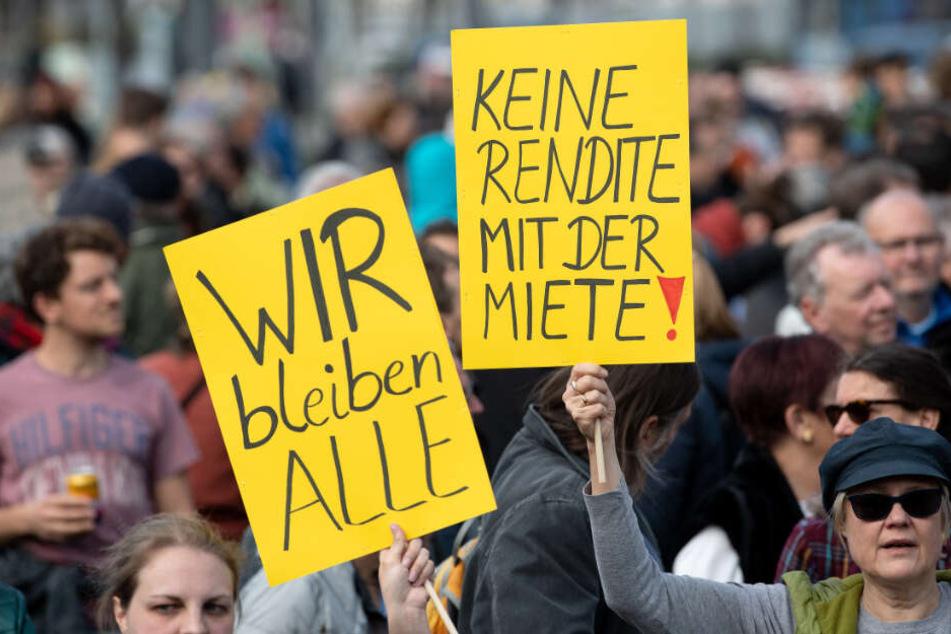 Proteste in Bayern: Die steigenden Mieten treiben die Bürger zu Protesten auf die Straße. (Archiv)