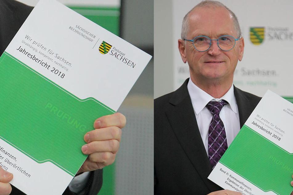 Rechnungshofpräsident Karl-Heinz Binus (64) mit dem Jahresbericht.