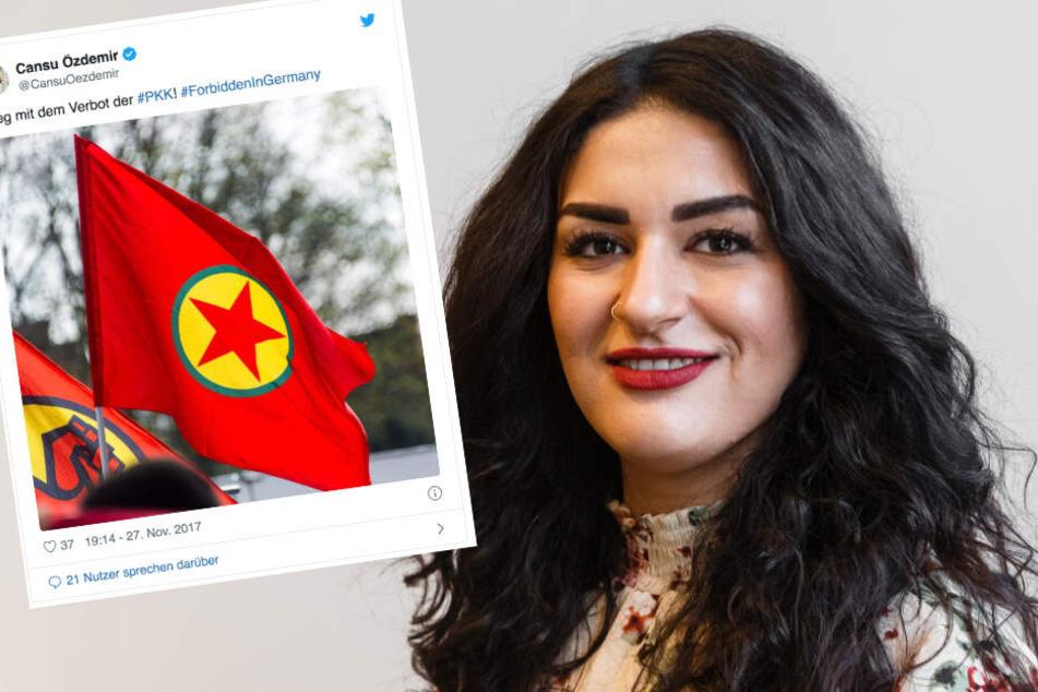 Tweet mit PKK-Fahne bringt Linken-Chefin Cansu Özdemir Strafe ein
