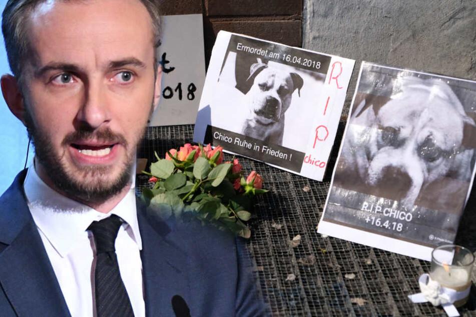 Satiriker Jan Böhmermann thematisiert die Kampfhund-Debatte.