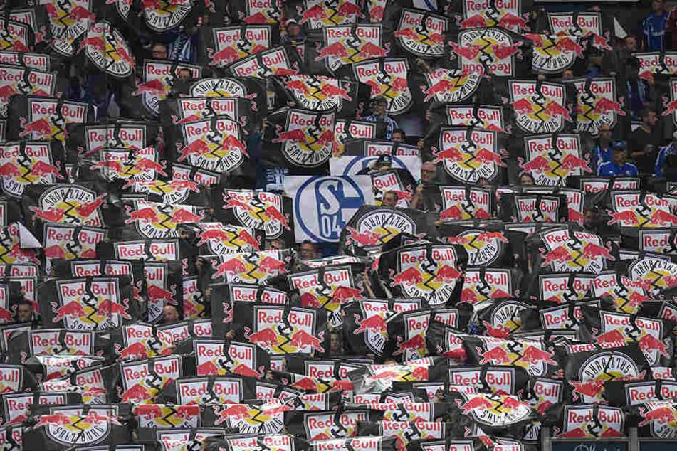 """""""Sch... Red Bull"""", die Schalker Fans nahmen vor dem Anpfiff kein Blatt vor den Mund."""
