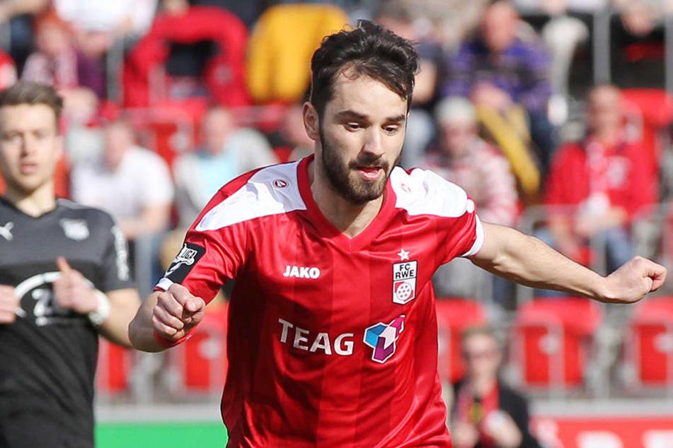 Okan Aydin kommt von Drittligist Rot-Weiß Erfurt.