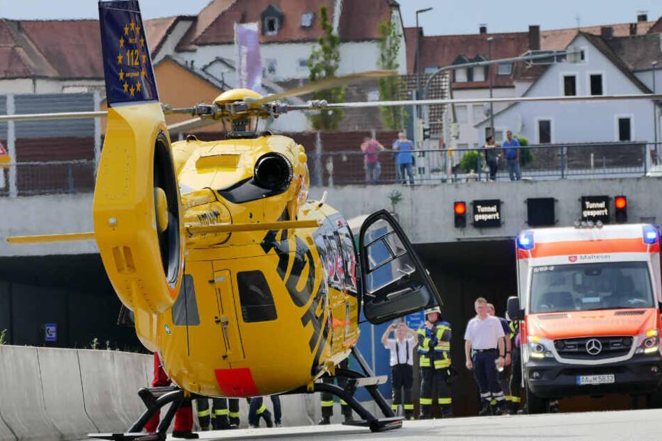 Unfall mit sechs Verletzten: Einhorntunnel gesperrt!