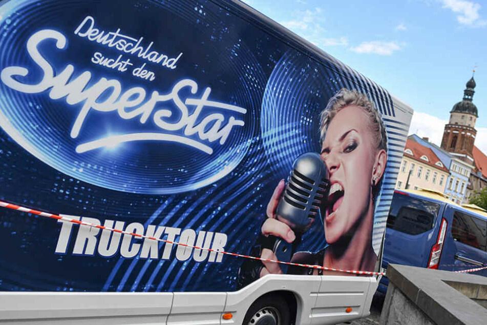 """Der """"DSDS""""-Truck hielt am Dienstag in Cottbus, im Zuge der großen Casting-Tour."""