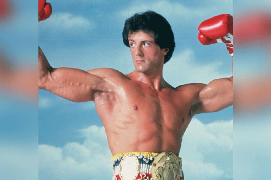 """Ein Bild aus fitteren Tagen: Stallone in einer Szene des Films """"Rocky III"""" aus dem Jahr 1982."""