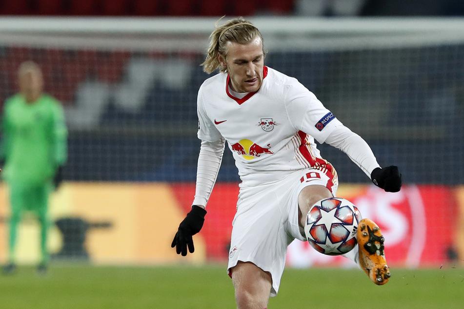 RB Leipzigs Emil Forsberg (29) warnt davor, den türkischen Verein Basaksehir trotz des Hinspielerfolgs nicht zu unterschätzen.
