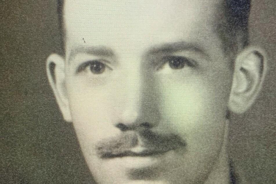 Ein Bild aus der Armee-Zeit von Captain Tom Moore.