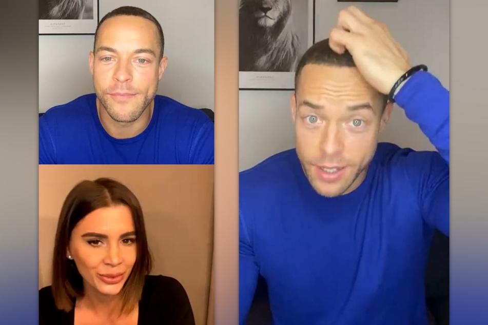 In einem Instagram-Video verabredeten sich Andrej Mangold (34) und Andrina Santoro (28) zu einem Date. (Fotomontage)
