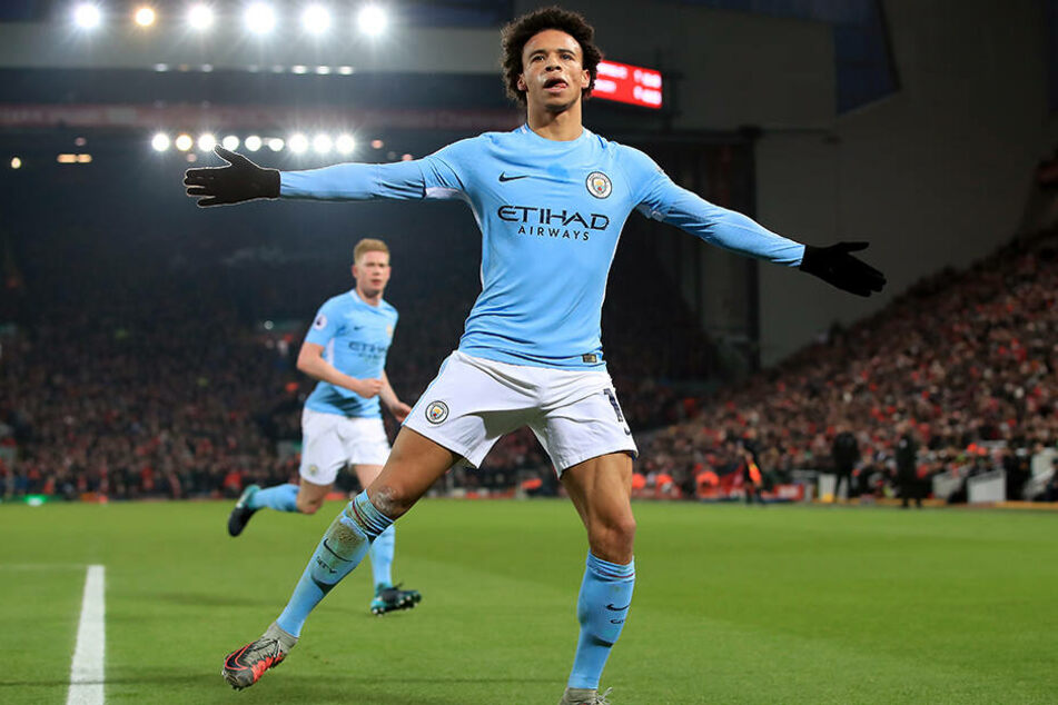 Hat derzeit allen Grund zum Jubeln: Manchester-City-Star Leroy Sané.