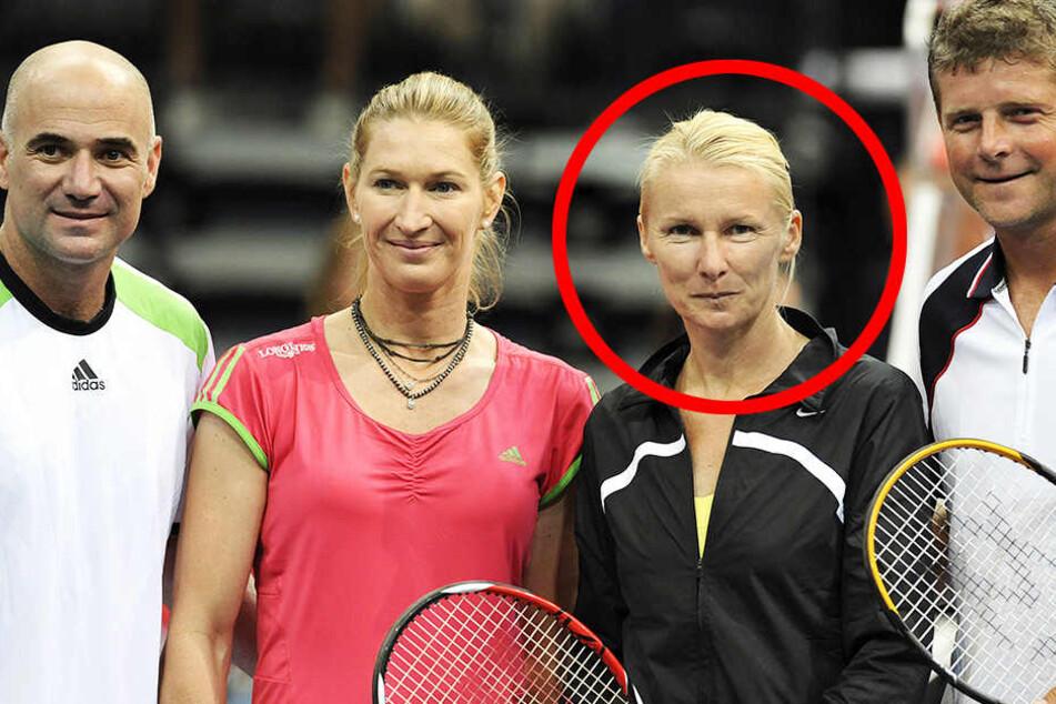 Jana Novotna (2. v.r.) war eine der härtesten Konkurrentinnen von Steffi Graf.