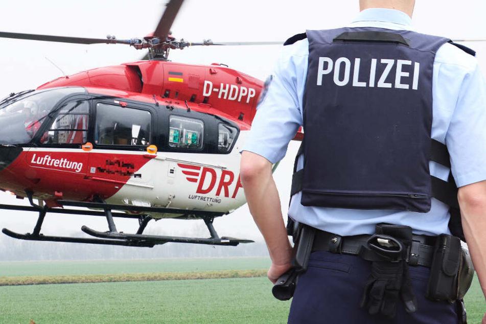 Ein Rettungshubschrauber brachte die 24-Jährige in eine Klinik (Symbolbild).