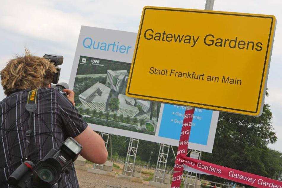 """Die neue S-Bahn-Stecke soll den ebenfalls neuen Stadtteil """"Gateway Gardens"""" mit Frankfurt verbinden."""