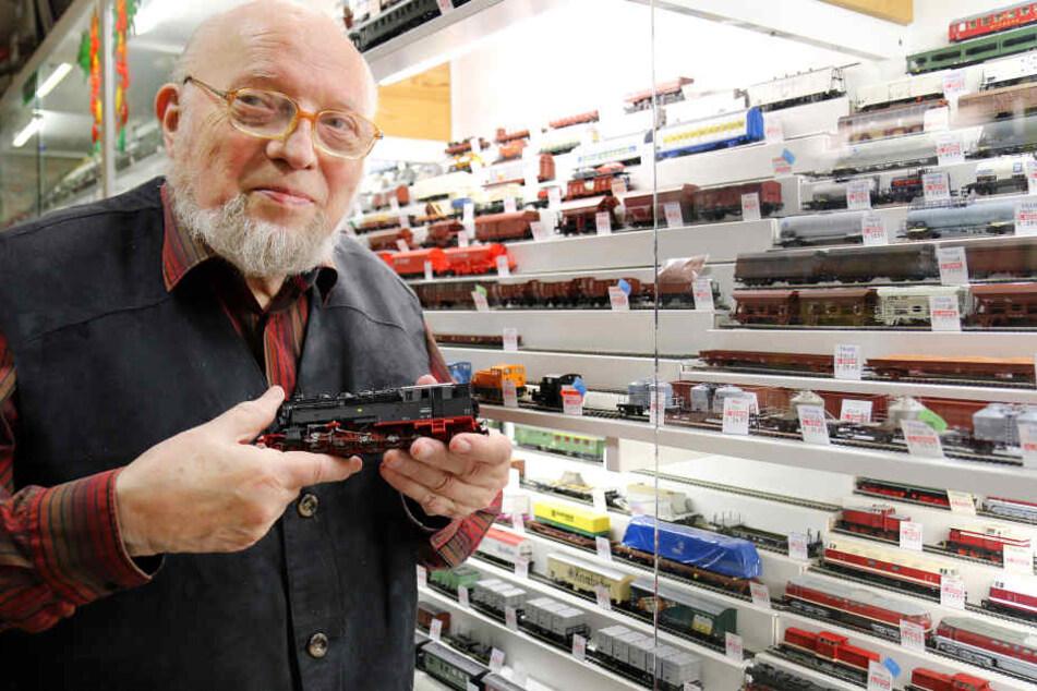 Wolfram Schneider (84) ist der Spielzeug-Kaiser von Hohenstein-Ernstthal.