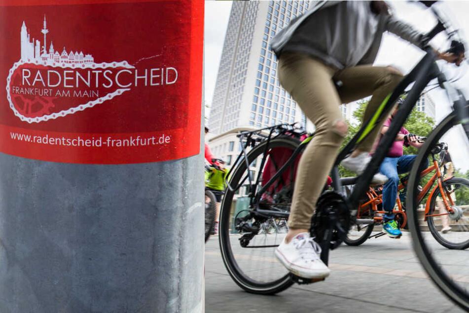 """Seit dem 4. April sammelt die Initiative """"Radentscheid"""" in Frankfurt Unterschriften."""