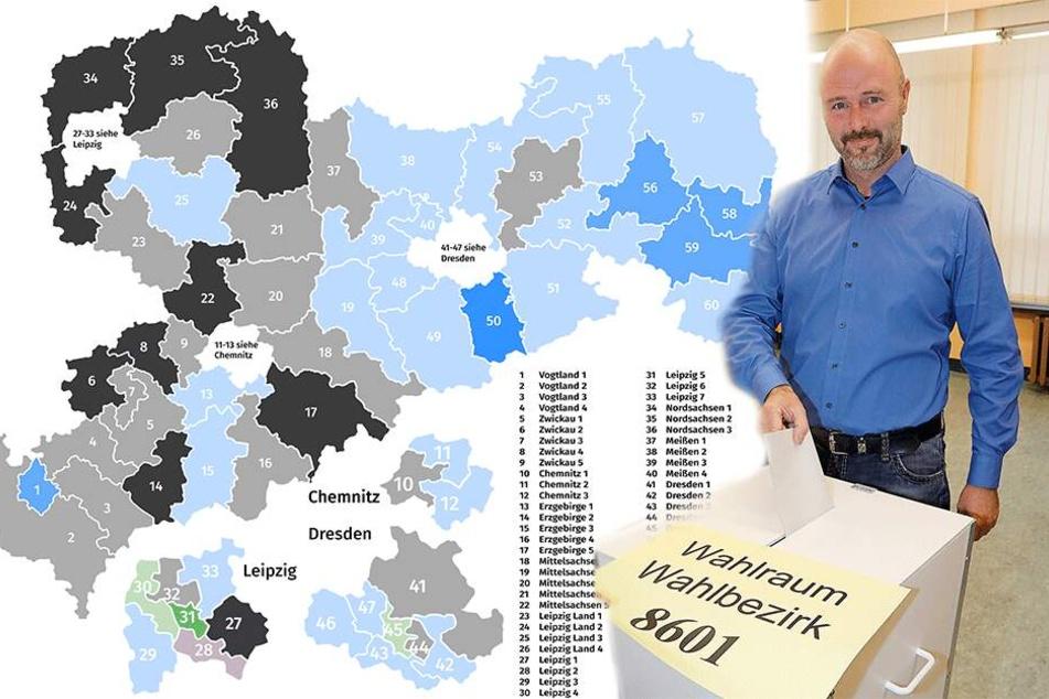 Wahlen in Chemnitz: Wer will 2019 in den Landtag ziehen?