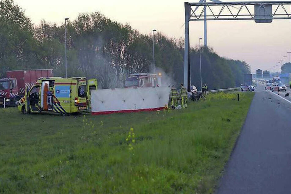 Twitter-Bilder zeigen den Unfallort.