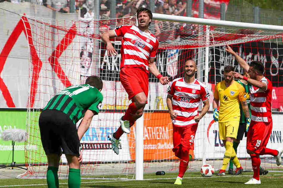 Beim letzten Saisonspiel gegen Münster feierte Ronny König seinen Treffer zum 1:0 - es war sein insgesamt elfter.