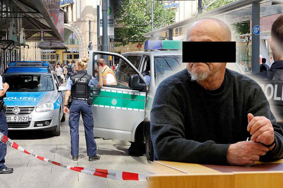 Chemnitzer Bombendroher: Rentner wollte von Polizei eingesperrt werden