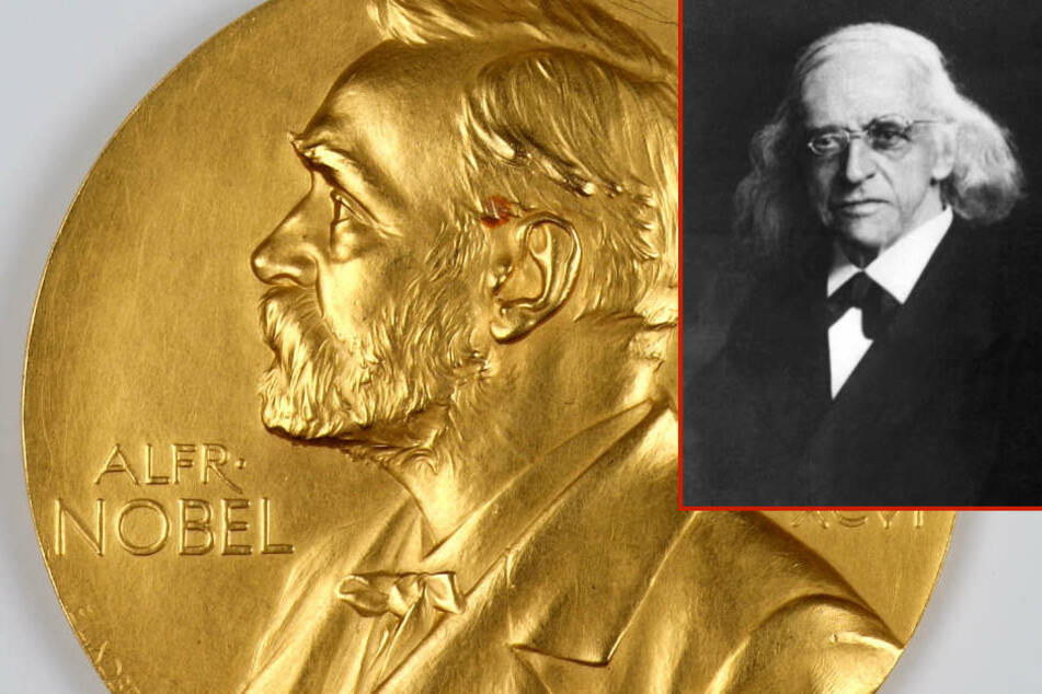 Die echte Medaille liegt seit 14 Jahren in Marbach. Darum kann das angebotene Stück nicht das Original sein, das Theodor Mommsen (kleines Bild) erhielt.