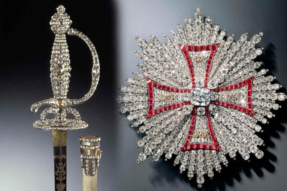 Zwei der Schätze, die aus Sachsens Schatzkammer gestohlen wurden.