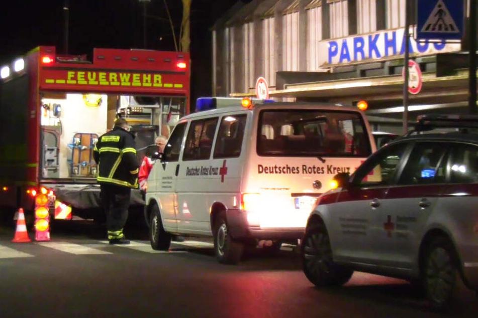 Die Schüsse fielen am späten Samstagabend in diesem Parkhaus in Bad Homburg.