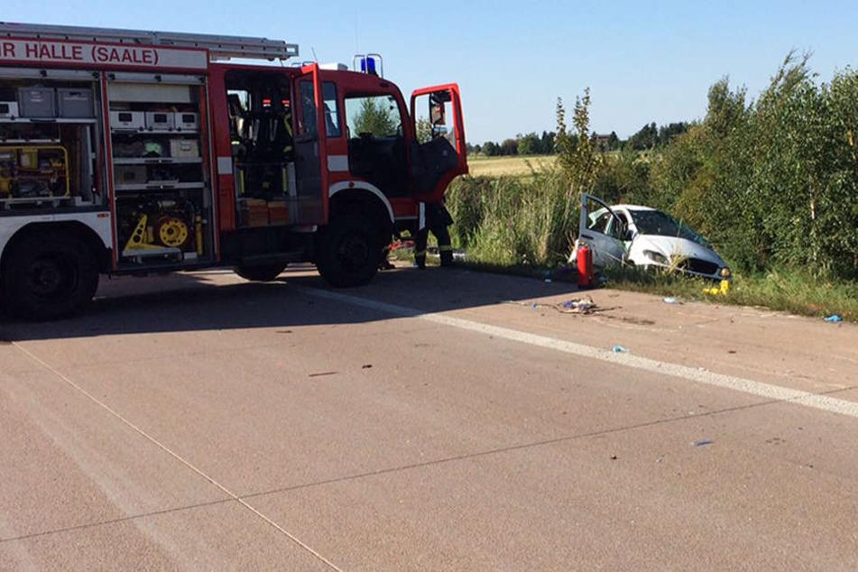 Tödlicher Crash auf A14: Sattelzug kracht in Kleintransporter
