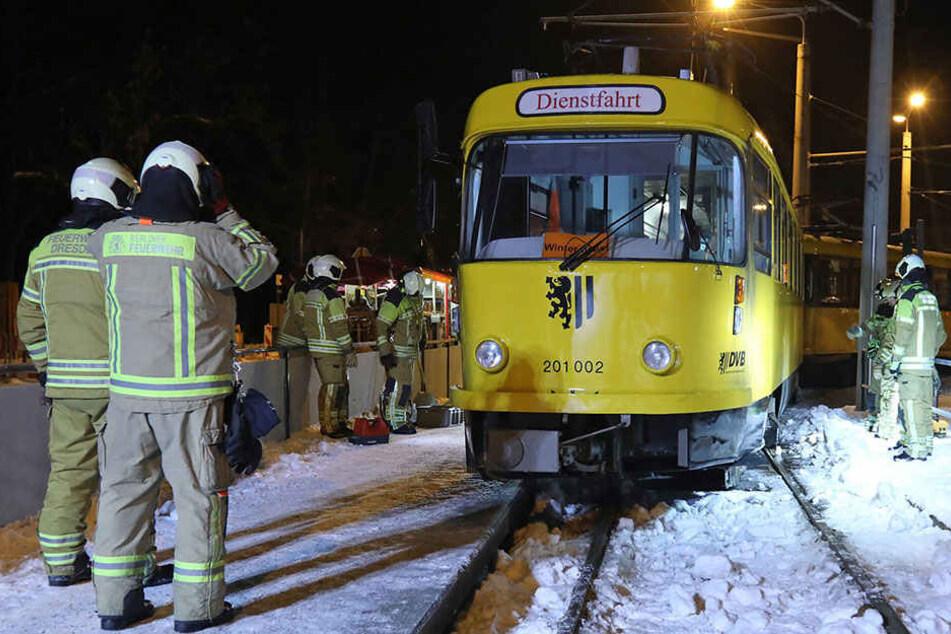 Straßenbahn in Dresden entgleist: Mehrere Stunden Sperrung