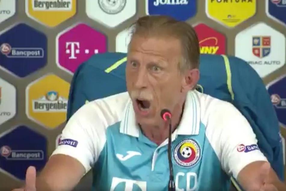 Trainer Christoph Daum rastet völlig aus