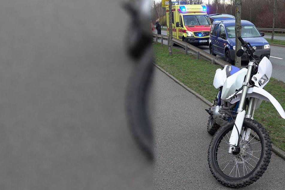 Das Motorrad überstand den Unfall vergleichsweise unbeschadet.