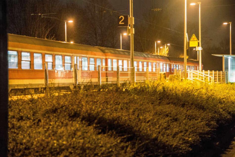 Der Regionalzug am Dienstagabend.