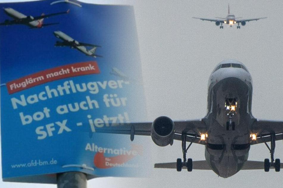 AfD fordert Nachtflugverbot und blamiert sich mit Wahlplakat