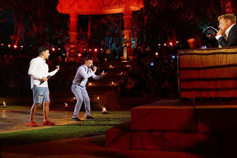 In der Amphi-Theater-Kulisse machten Mario und Farid (l.) den Anfang. Farid musste die Segel streichen. Sein Duell-Gegner kam weiter.