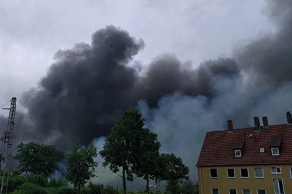 Großbrand in Zuckerfabrik richtet verheerenden Schaden an